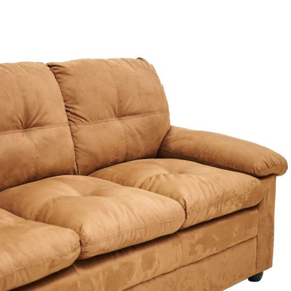 Juego de sofá chocolate de 3 puestos + sofá 2 puestos