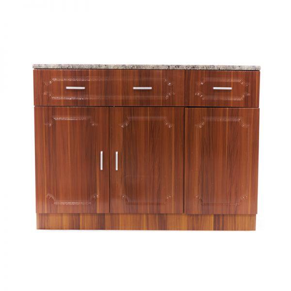 Mueble de cocina color chocolate