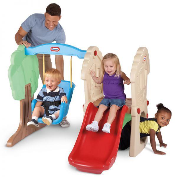 Set de tobogán y columpio para niños - Little Tikes