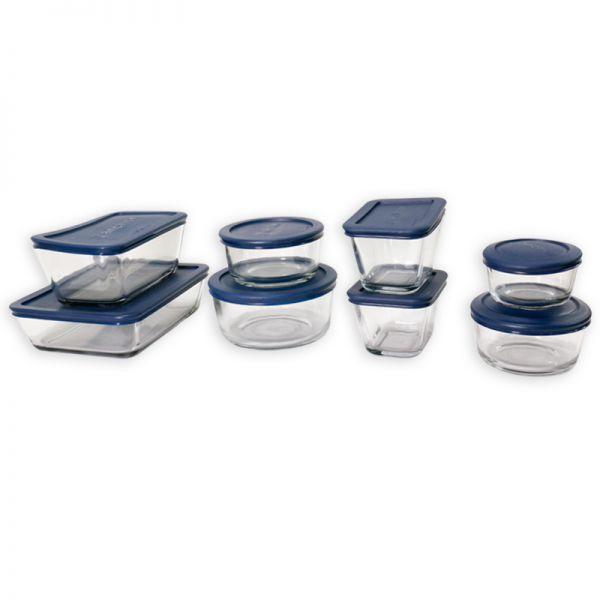 Set de envases de vidrio 8 unidades