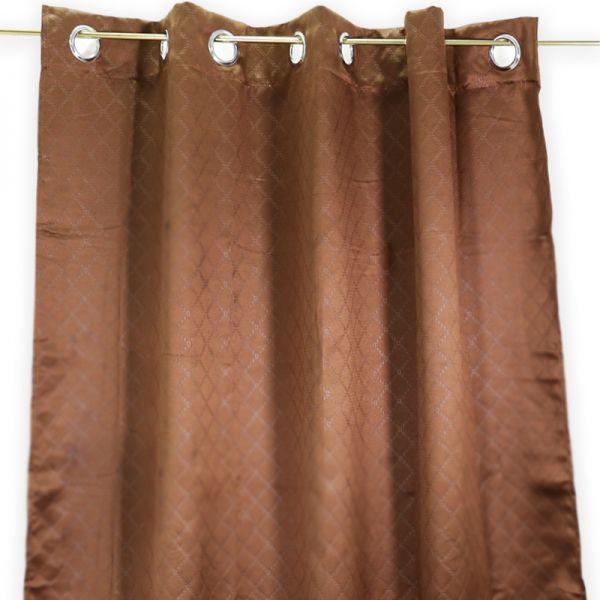 Cortina de tela chocolate Jennifer Home