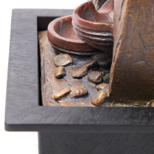 Fuente decorativa cobre de cántaros Jennifer Home