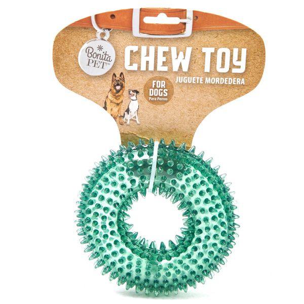 Juguete chillón de anillo verde para mascotas Jennifer Home