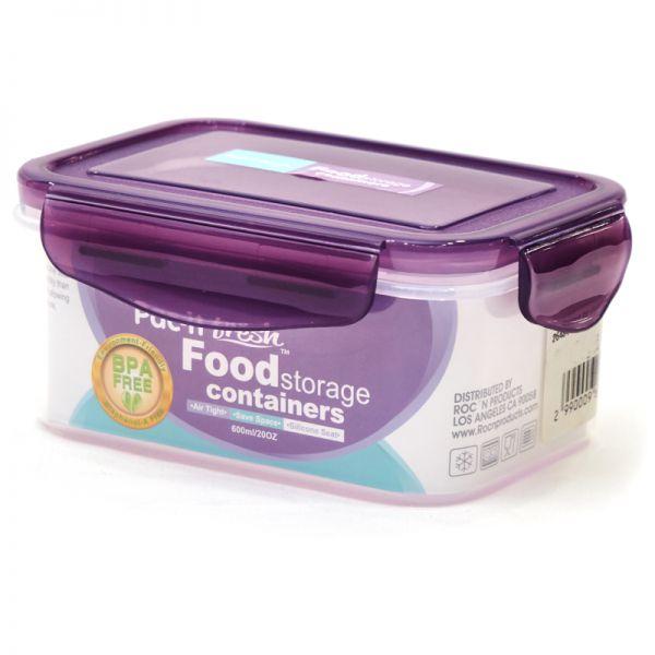 Envase de plástico rectangular Pac-it Fresh