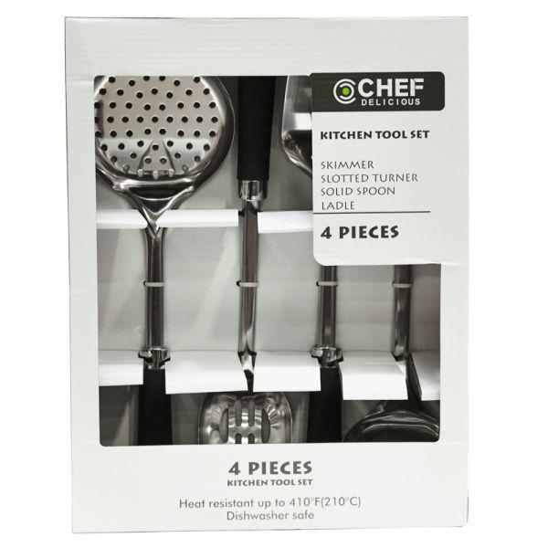 Set de cucharones de metal Chef Delicious