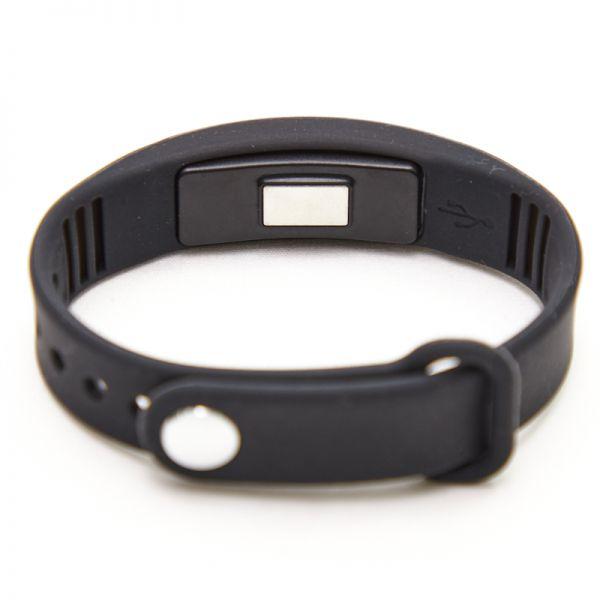 Reloj digital de pulsera negro y con toma de temperatura