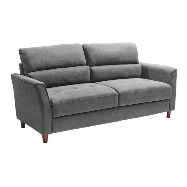 Sofá de madera gris 3 puestos