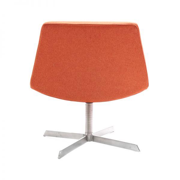 Silla estilo poltrona naranja Kennedy Home
