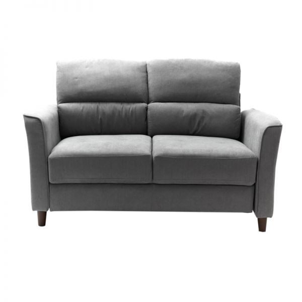 Sofá de madera 2 puestos gris Soho Furniture