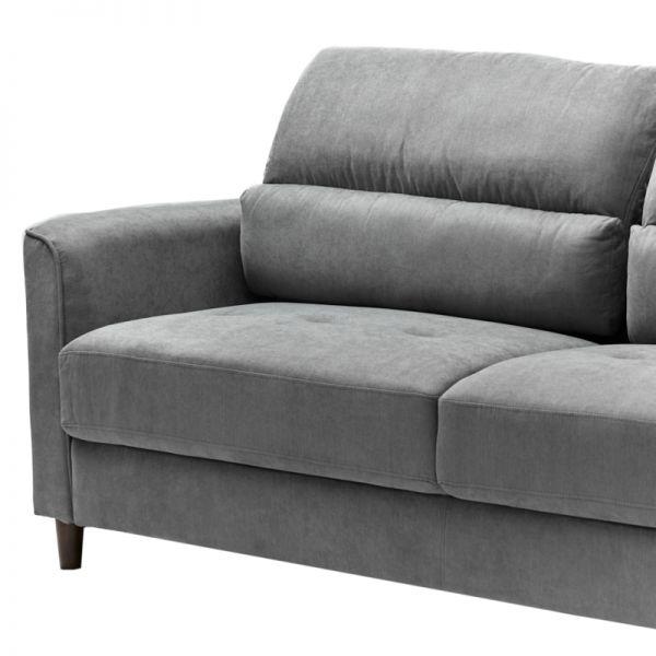 Sofá de madera 3 puestos gris Soho Furniture
