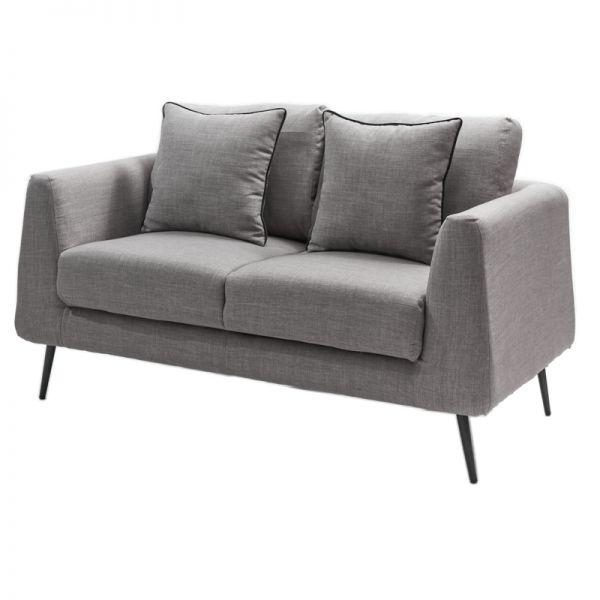 Sofá de madera gris claro 2 puestos