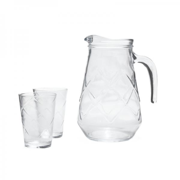 Set de jarra de vidrio Maracatu