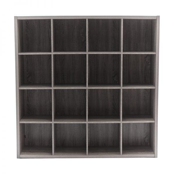Librero de madera gris