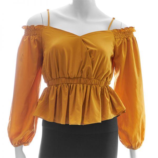 Blusa de dama manga larga con tirantes Papermoon