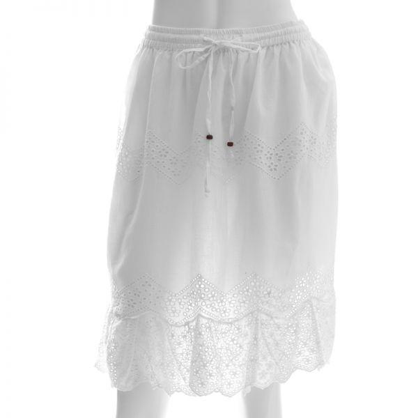 Falda para dama casual blanca