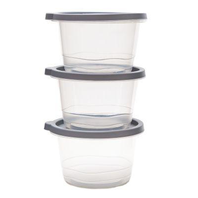 Set de 3 envases plásticos capacidad 1230ml