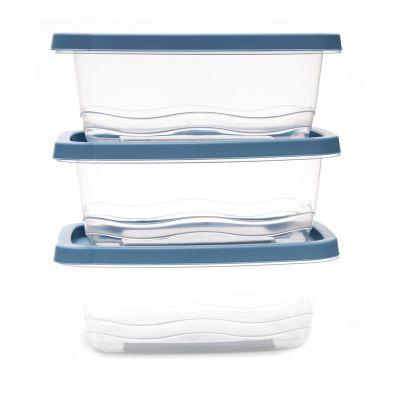 Set de 3 envases de plástico capacidad  1130ml