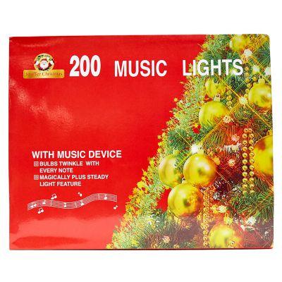 Luces amarillas de 200 estilo cordón con melodía cable blanco