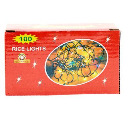 Luces amarillas de 100 estilo arroz