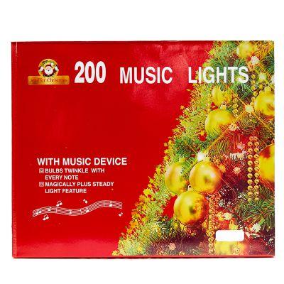 Luces amarillas de 200 estilo cordón con melodía