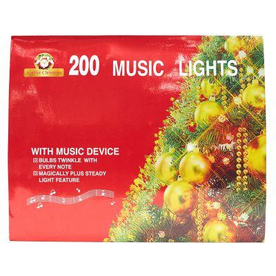 Luces multicolor de 200 estilo cordón con melodía
