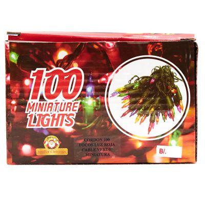 Luces rojas de 100 estilo cordón