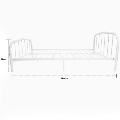 Cama de metal blanco 59 cm alto Jennifer Home