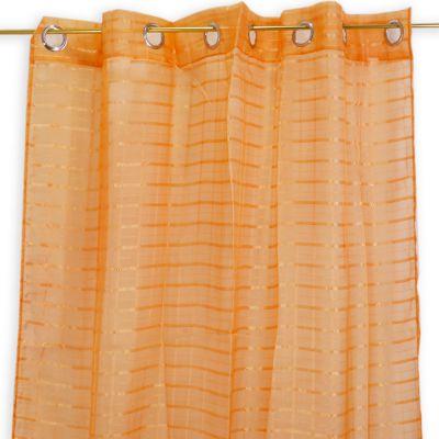 Cortina de tela naranja Jennifer Home