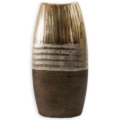 Jarrón de cerámica Jennifer Home mediano