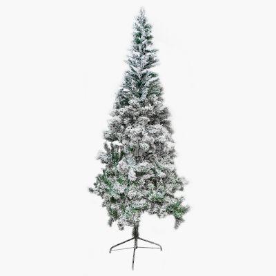 Árbol de navidad sintético con nieve 210cm