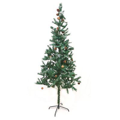 Árbol de navidad sintético con semillas de pino 210 cm
