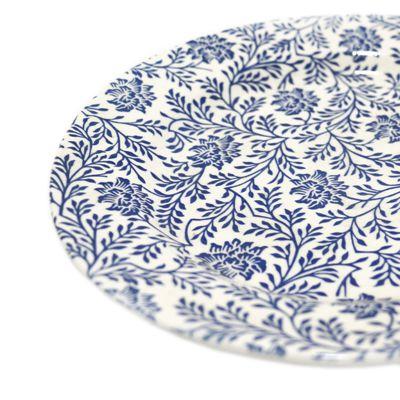 Plato de cerámica estampado llano 22cm Jennifer Home