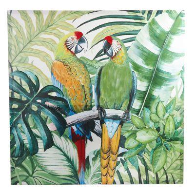 Cuadro decorativo guacamayas tropical