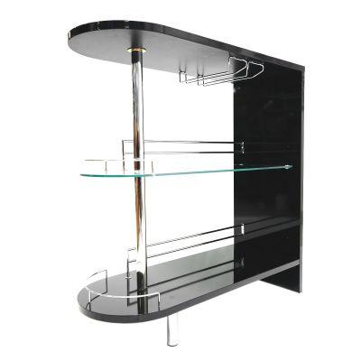 Mueble de bar negro madera revestida Coaster