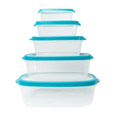 Set de envases de plástico 5 unidades Jennifer Home