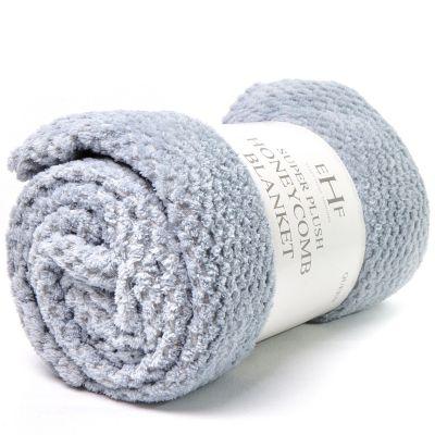 Frazada de lana gris Jennifer Home