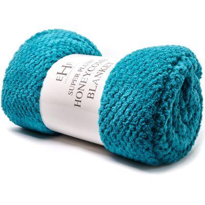 Frazada de lana turquesa Jennifer Home