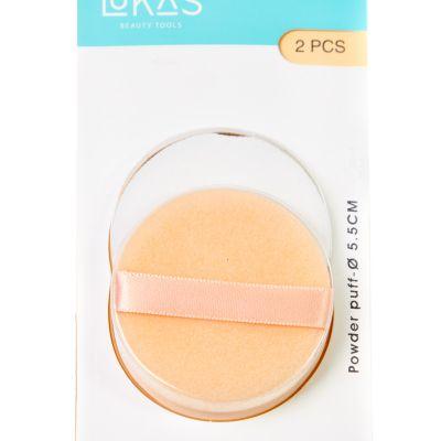 Set de 2 aplicadores de maquillaje redondos Lukasi