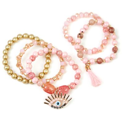 Pulsera cherie perlas rosada