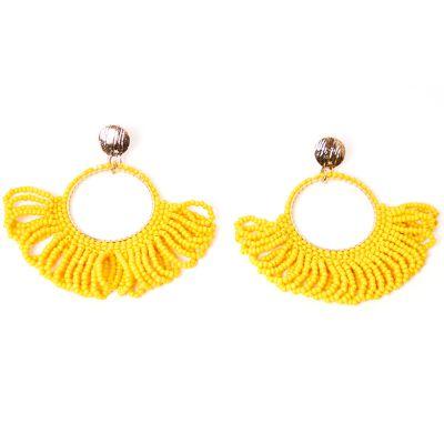 Arete estilo bohémico amarillo