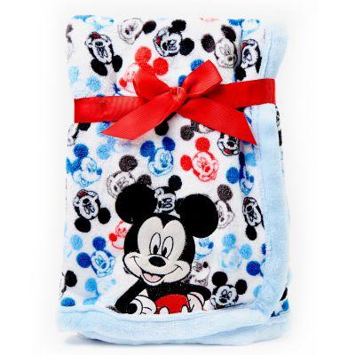 Frazada de bebé Mickey azul y blanco Disney