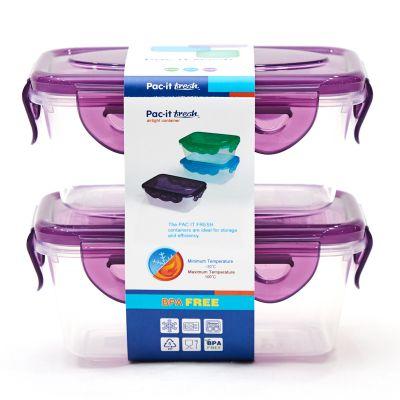 Set de envases plásticos Pac-it Fresh