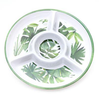 Bandeja de melamina estampada diseño hojas