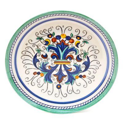 Plato de melamina estampado elegante diseño azul