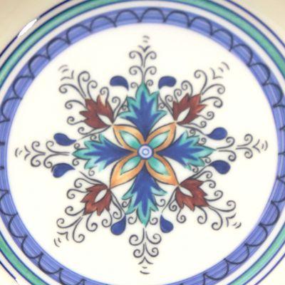 Plato hondo de melamina estampado elegante azul