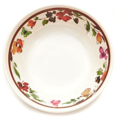 Plato hondo de melamina estampado floral