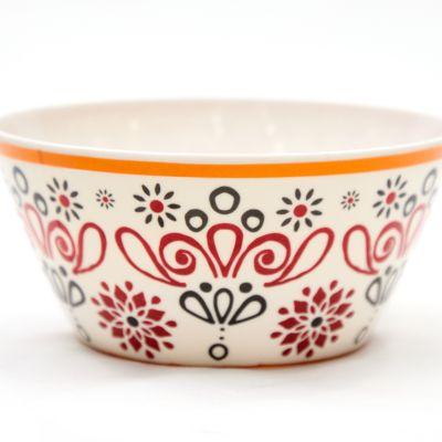 Plato hondo de melamina estampado elegante rojo