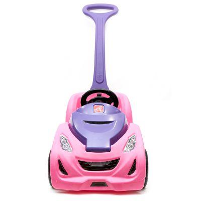 Coche buggy para empujar rosado Step 2