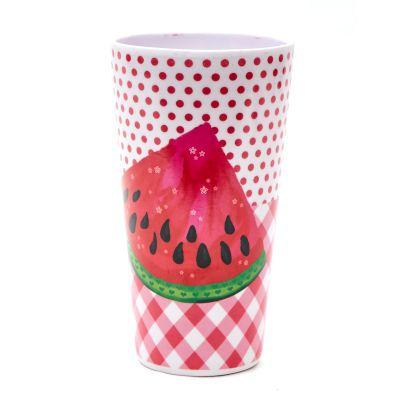 Vaso de melamina estampado sandía