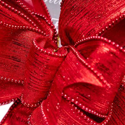 Lazo rojo estilo moño 25 cm